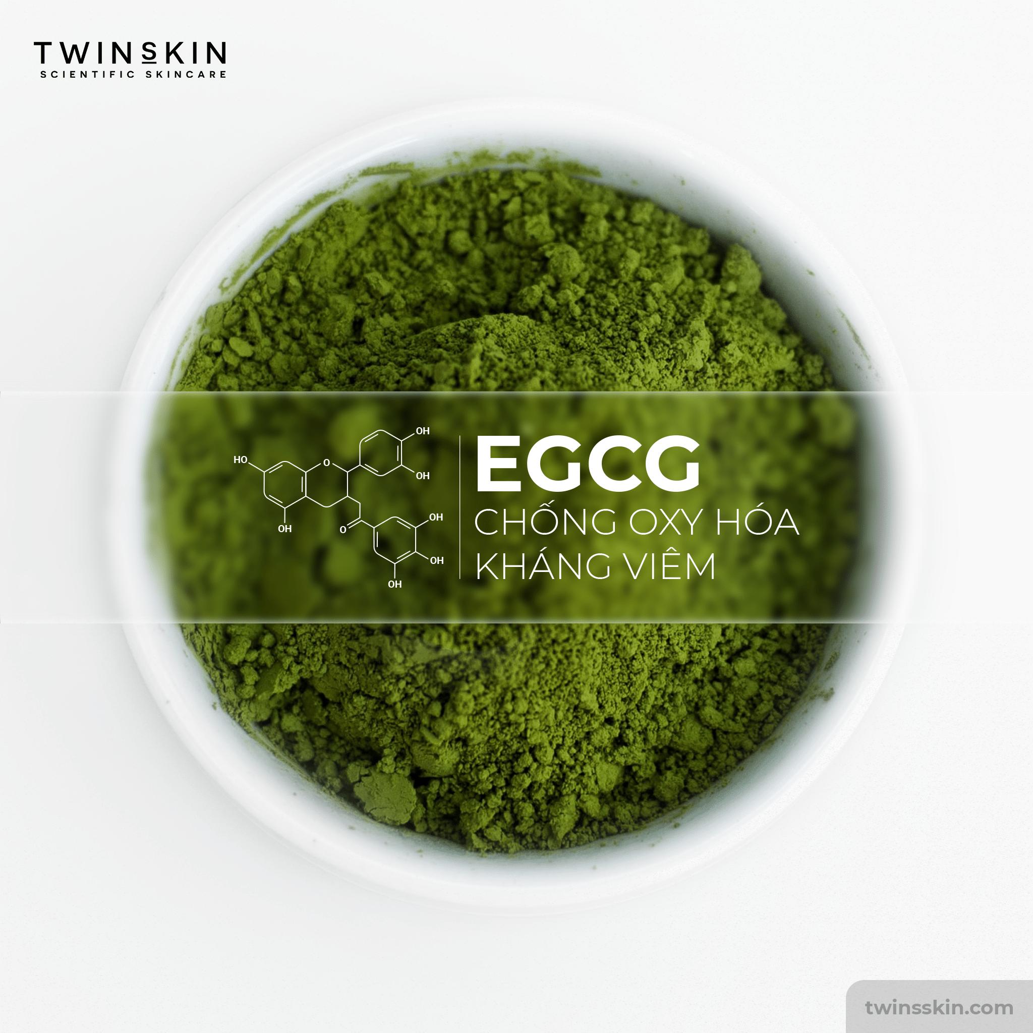 tác dụng của EGCG trong retinol twins skin
